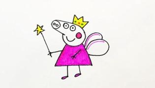 啥是佩奇?這就是!小豬佩奇簡筆畫!