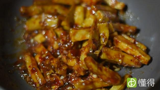鱼香茄子的做法-出锅