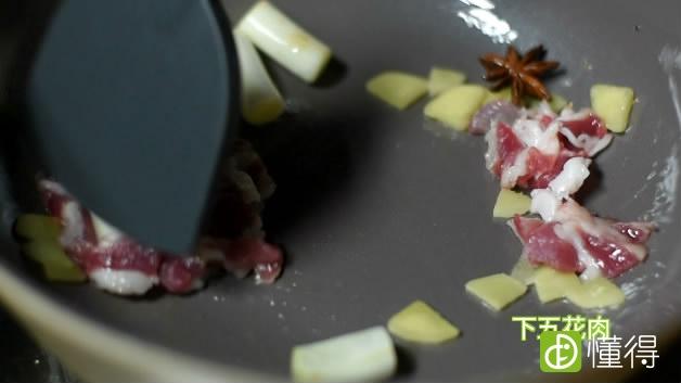 红烧茄子的做法-炒肉