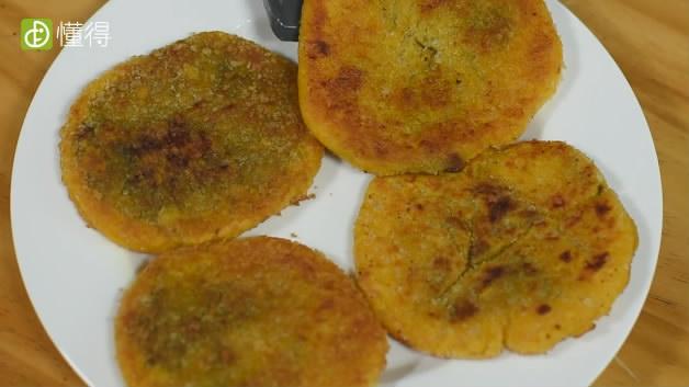 南瓜饼的做法-煎南瓜饼