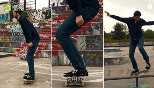 滑板教学Ⅱ:正确的滑行姿势