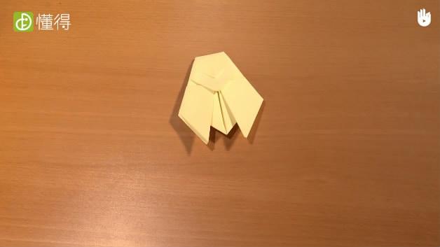 怎样折蝉-已经完成的折纸蝉