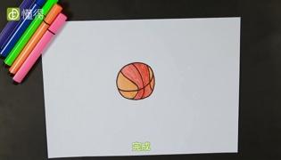 篮球简笔画