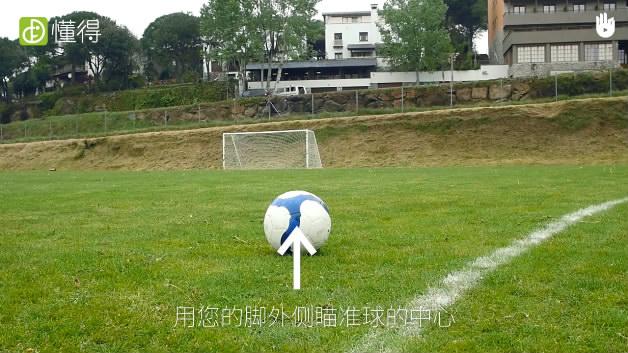 足球射门动作要领Ⅳ:足球脚外侧踢球-踢球动作是用脚外侧的前部击球
