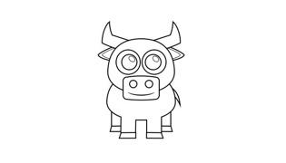 简笔画小牛的快速画法