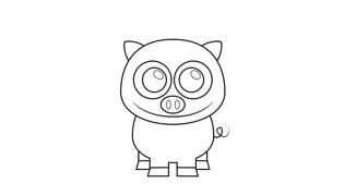 小猪简笔画的画法
