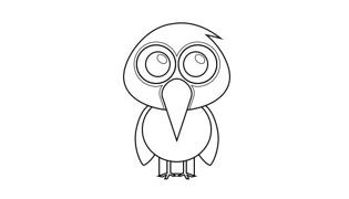 啄木鸟简笔画的画法